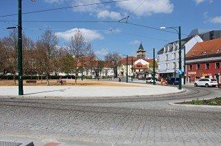 Pokládka trakčních a napájecích kabelů - tramvajová trať Pražská - U Zvonu, Plzeň
